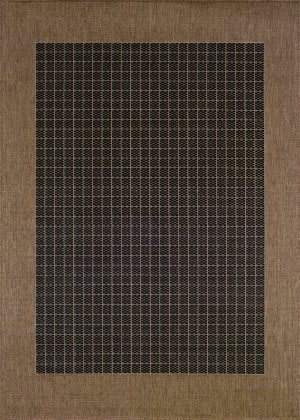 Couristan Recife Checkered Field Black - Cocoa Area Rug