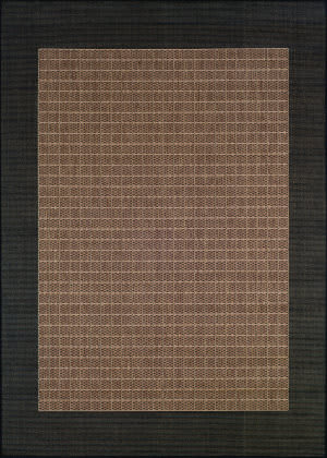 Couristan Recife Checkered Field Cocoa - Black Area Rug