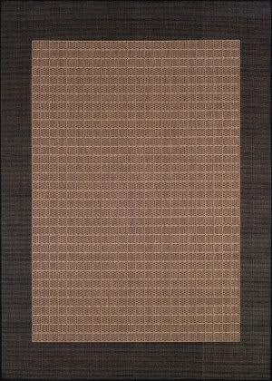 Couristan Recife Checkered Field Cocoa - Black Area Rug