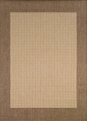 Couristan Recife Checkered Field Natural - Cocoa Area Rug
