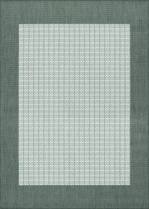 Couristan Recife Checkered Field Grey - White Area Rug