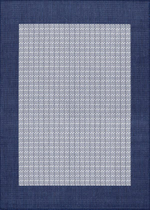 Couristan Recife Checkered Field Ivory - Indigo Area Rug