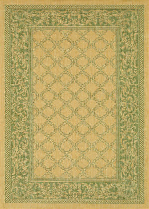 Couristan Recife Garden Lattice Natural - Green Area Rug