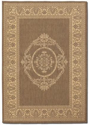 Couristan Recife Antique Medallion Natural - Cocoa Area Rug