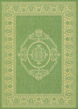 Couristan Recife Antique Medallion Green - Natural Area Rug