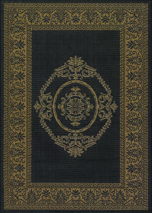 Couristan Recife Antique Medallion Black - Cocoa Area Rug