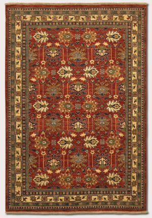 Couristan Lahore Antique Kazak Reddish Clay Area Rug