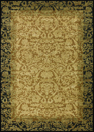 Couristan Everest Fontana Gold - Black Area Rug