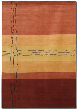 Couristan Rythmia Sublimity Miso Red Area Rug