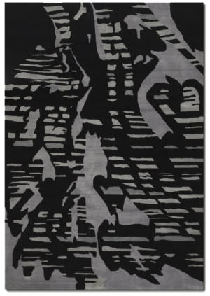 Couristan Rythmia Shadows Black - Grey Area Rug