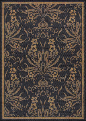 Couristan Recife Garden Cottage Black - Cocoa Area Rug