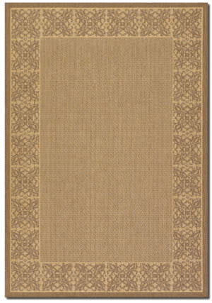 Couristan Recife Summer Chimes Natural - Cocoa Area Rug