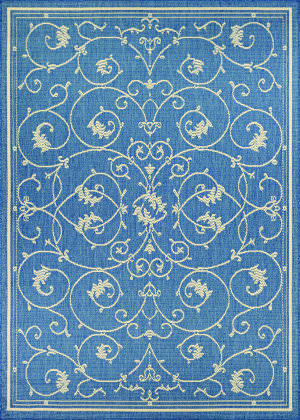 Couristan Recife Veranda Champ - Blue Area Rug