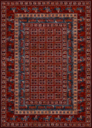 Couristan Old World Classics Pazyrk Antique Red Area Rug