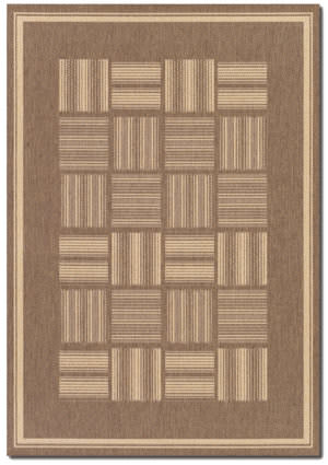 Couristan Recife Bistro Cocoa - Natural Area Rug