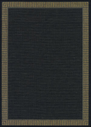 Couristan Recife Wicker Stitch Black - Cocoa Area Rug