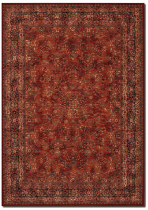 Couristan Old World Classics Antique Kashan Burgundy - Navy Area Rug