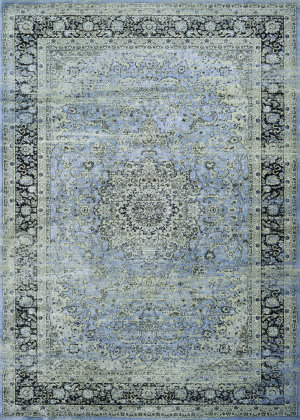 Couristan Zahara All Over Sarouk Slate - Blue - Creme Area Rug