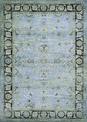 Couristan Zahara Serab Slate - Blue - Black Area Rug