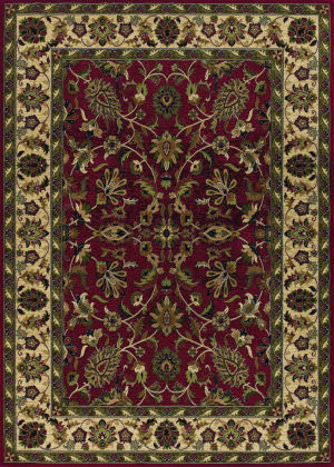 Couristan Anatolia Floral Ispaghan Red - Cream Area Rug