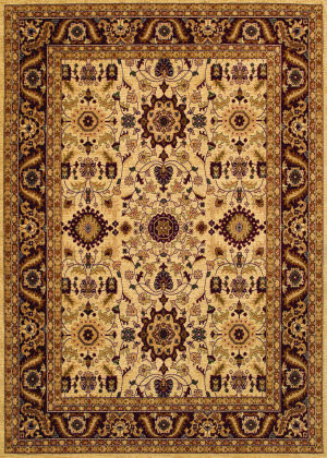 Couristan Anatolia Antique Kashan Cream - Red Area Rug