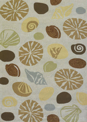 Couristan Outdoor Escape Barnegat Bay Sand Area Rug