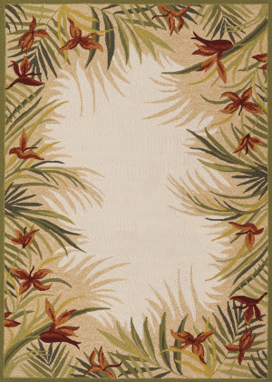 Couristan Covington Tropic Gardens Sand - Multi Area Rug