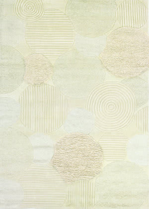 Couristan Super Indo Natural Austin White Area Rug
