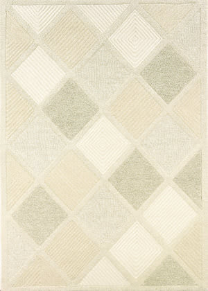 Couristan Super Indo Natural Astra White Area Rug