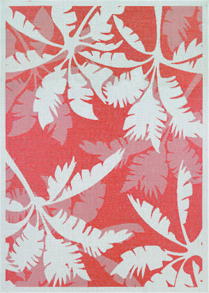 Couristan Monaco Coastal Flora Ivory - Orange Area Rug