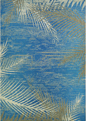 Couristan Monaco Tropical Palms Ocean Area Rug