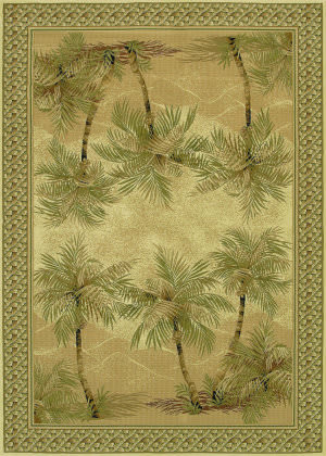 Couristan Everest Palm Tree Desert Sand Area Rug