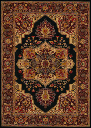 Couristan Everest Antique Sarouk Black Area Rug