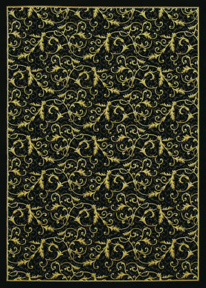 Couristan Everest Royal Scroll Ebony Area Rug