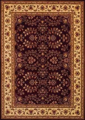 Couristan Anatolia Antique Herati Red - Cream Area Rug
