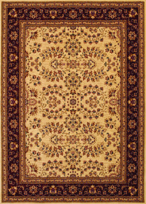 Couristan Anatolia Antique Herati Cream - Red Area Rug