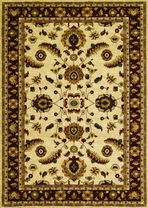 Couristan Anatolia Floral Heriz Cream - Red Area Rug
