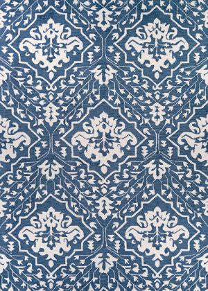 Couristan Crawford Contempo Garden Herring Blue Area Rug