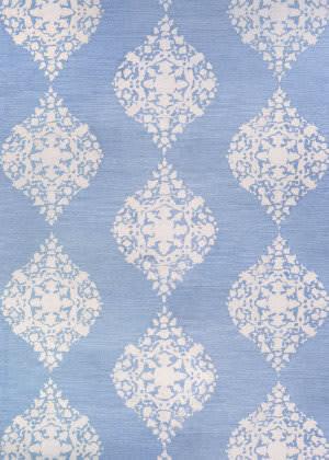 Couristan Crawford Ornament Powder Blue Area Rug