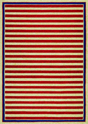Couristan Covington Nautical Stripes Red - Navy Area Rug