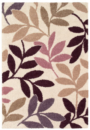 Couristan Moonwalk Lunar Garden Cream - Multi Brown Area Rug