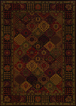 Couristan Everest Antique Baktiari Midnight Area Rug