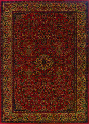 Couristan Everest Ardebil Crimson Area Rug