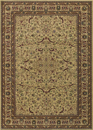 Couristan Anatolia Medallion Ispaghan Han - Cream Area Rug