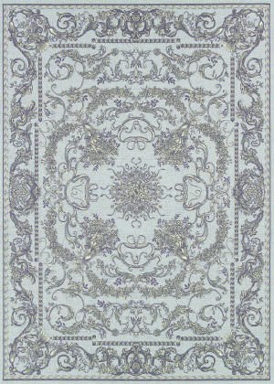 Couristan Dolce Messina Sky Blue - Grey Area Rug