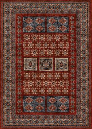 Couristan Timeless Treasures Royal Kazak Burgundy Area Rug