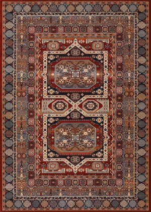 Couristan Timeless Treasures Maharaja Burgundy Area Rug