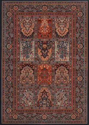 Couristan Timeless Treasures Vintage Baktia Ebony Area Rug