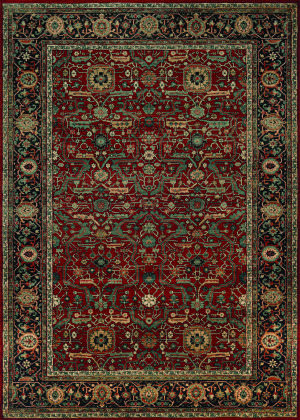 Couristan Old World Classics Joshagan Rust - Navy Area Rug