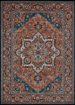 Couristan Old World Classic Antique Mash Burnished Clay Area Rug